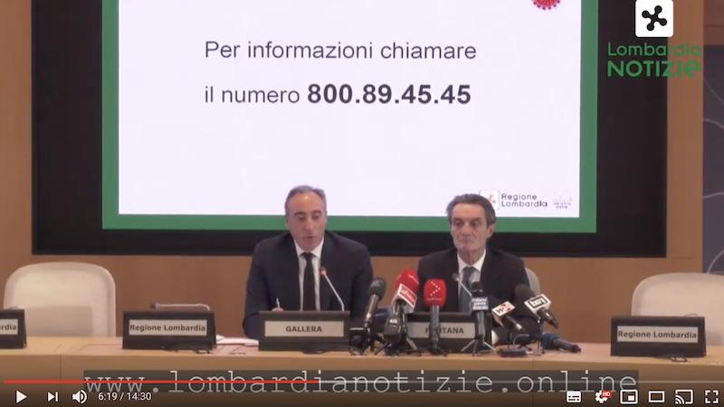 Conferenza stampa Regione Lombardia