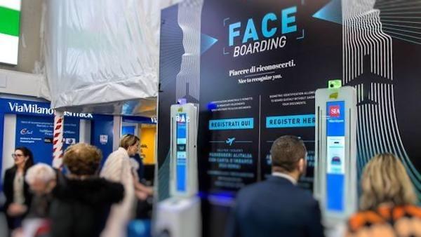 Linate riconoscimento facciale passeggeri