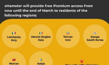 Porno gratis per chi è in quarantena. L'iniziativa di xHamster per Wuhan, Lombardia e Veneto