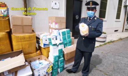 Blitz finanzieri di Corsico in magazzino cinese: sequestrate 185mila mascherine