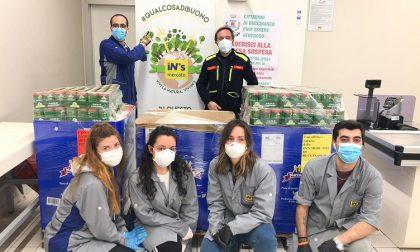 I dipendenti del supermercato In's donano prodotti per le famiglie bisognose FOTO
