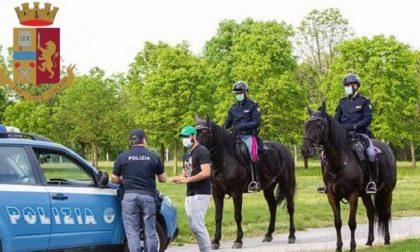 Giovani fermati al parco, uno si rifiuta di dare i documenti e inveisce contro i poliziotti