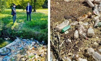 Una montagna di plastica nel cavo Borromeo: sabato pulizia coi volontari