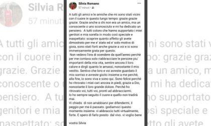 """Il primo messaggio di Silvia Romano: """"Il peggio è passato, sono viva e sono qui"""""""