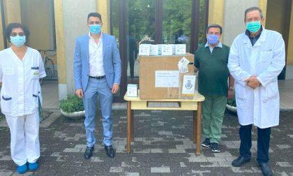 Mille mascherine donate alla Fondazione Pontirolo dal Rotary
