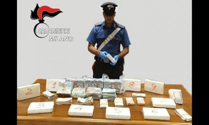 Dieci chili di cocaina pura nascosti in casa e 227mila euro: due arresti