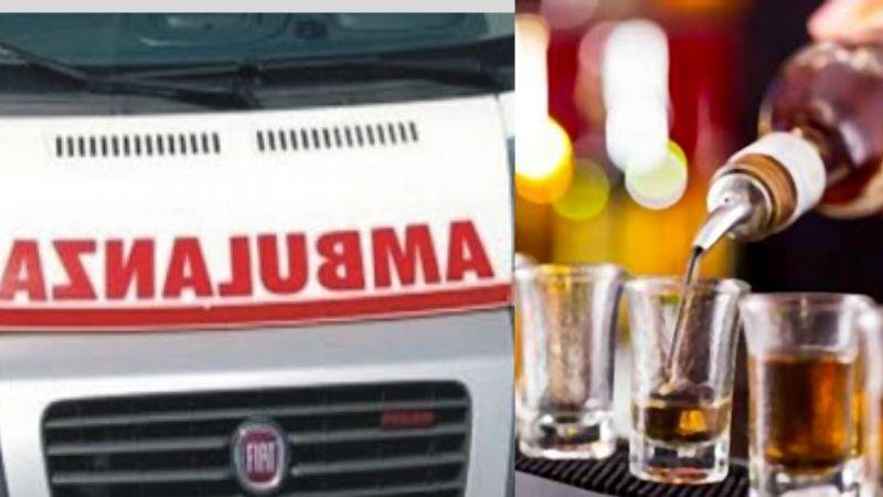 ubriaco trasporto ambulanza