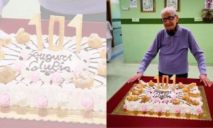 """Auguri alla signora GIulia, 101 anni. """"Il mio segreto: mangiare poco"""""""