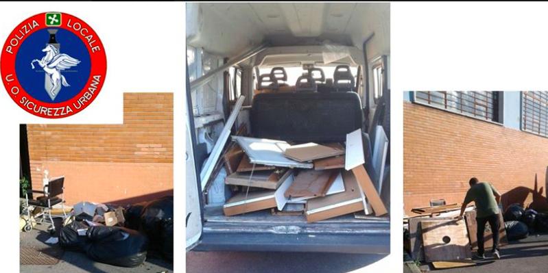 scaricare mobili in strada