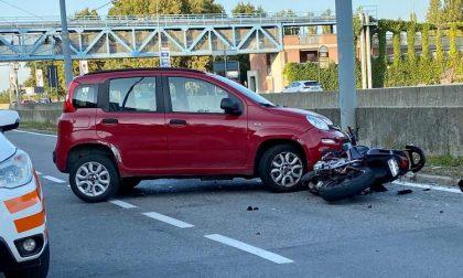 Incidente in via Curiel: grave motociclista, soccorsi sul posto