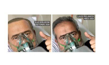 """Fake news: """"In quella foto di Berlusconi in realtà ci sono io"""""""
