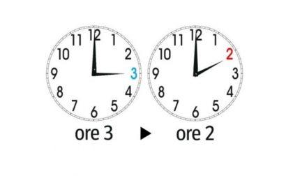 Cambio dell'ora: da legale a solare. Domenica si dorme un'ora in più