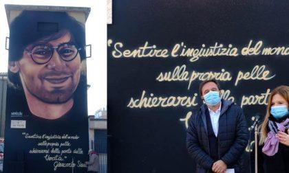 Un murale a Buccinasco con il sorriso di Giancarlo Siani