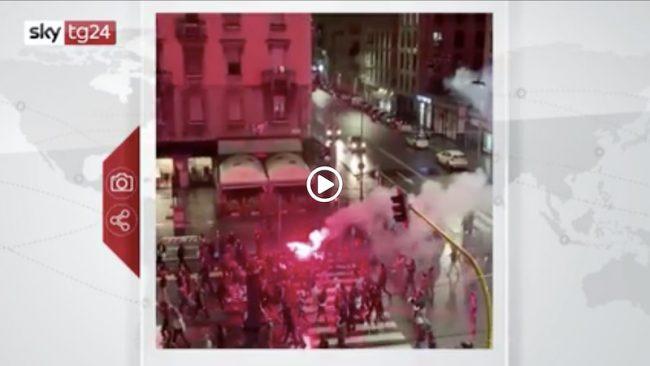 Proteste Milano professionisti caos