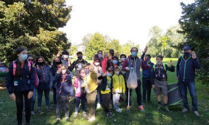 Retake Buccinasco e Scout Asei ripuliscono il parco: 3 chili di mozziconi raccolti FOTO