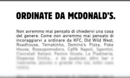 """La nuova pubblicità di Burger King: """"Ordinate da McDonald's"""""""