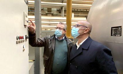 Teleriscaldamento quartiere Aler, sopralluogo del sindaco alla centrale termica