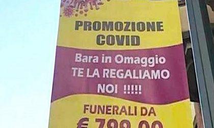 """Polemiche per la pubblicità delle pompe funebri:""""Promozione covid, cappotto di legno in regalo"""""""