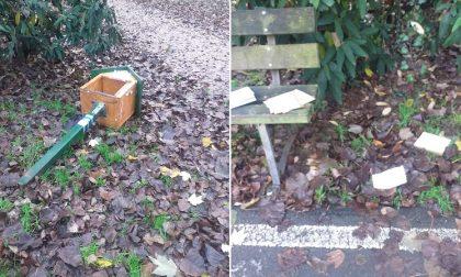 Ancora vandalismi a Cesano: panchina imbrattata, cassetta del bookcrossing abbattuta