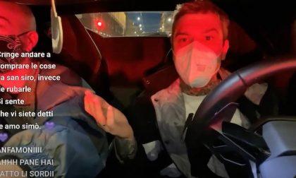 Fedez in giro in Lamborghini regala 5mila euro raccolti da donazioni di fan