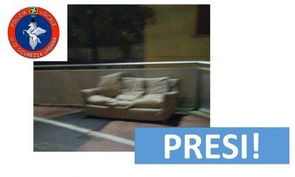 Controllo di Vicinato e telecamere incastrano incivile: scarica mobili e viene multato