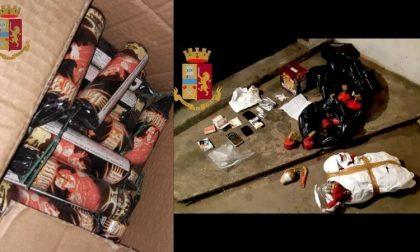 Droga e materiale pirotecnico nel seminterrato: in arresto 19enne