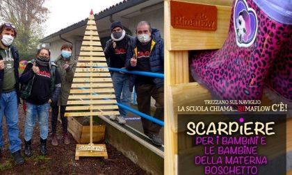 Scarpiere con legno riciclato per gli alunni della materna: ci pensa Rimaflow – FOTO