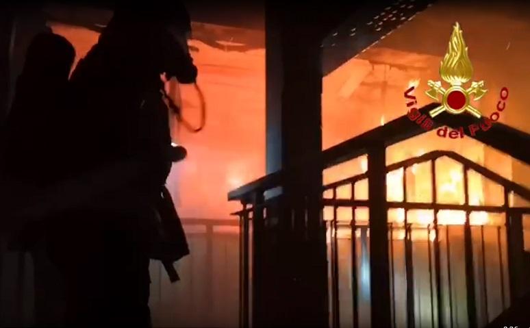 Incendio scuola Pisacane