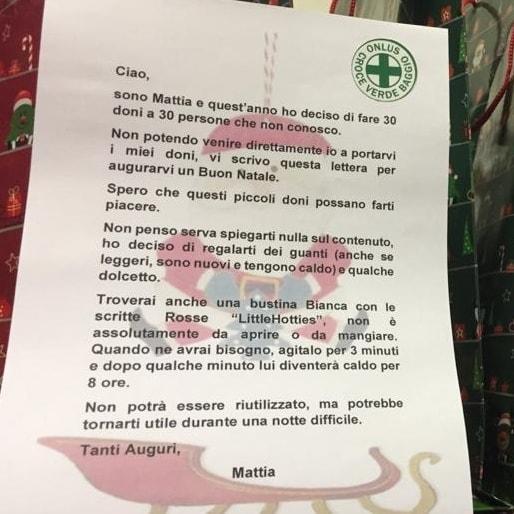 Trenta regali Croce Verde Baggio