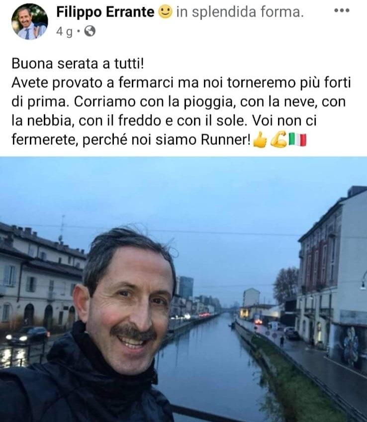 Errante runner sul Naviglio