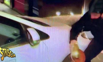 Staffelli investito da un taxi mentre consegna il tapiro a Bolle