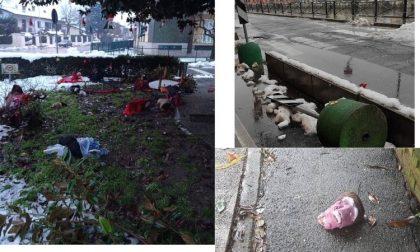 Raid vandalico: devastate le decorazioni di Natale della Proloco a Gaggiano FOTO