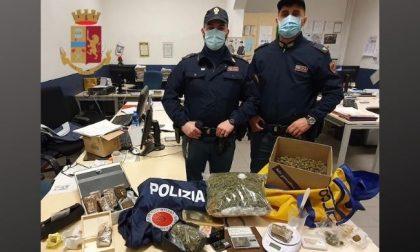 Droga negli slip e borsoni di marijuana nascosti in soffitta: arrestato 20enne