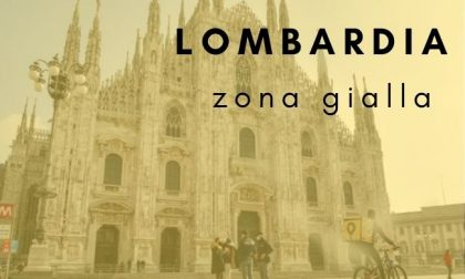 La Lombardia torna in zona gialla da lunedì!