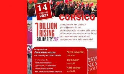 One Billion Rising: tre panchine rosse a Corsico contro la violenza sulle donne