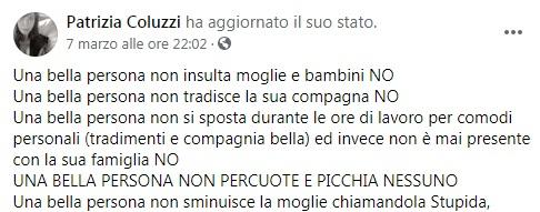 Patrizia Coluzzi fermata