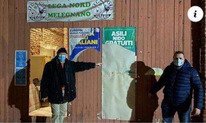 Vandali alla sede della Lega di Melegnano: manifesti strappati all'ingresso della sezione