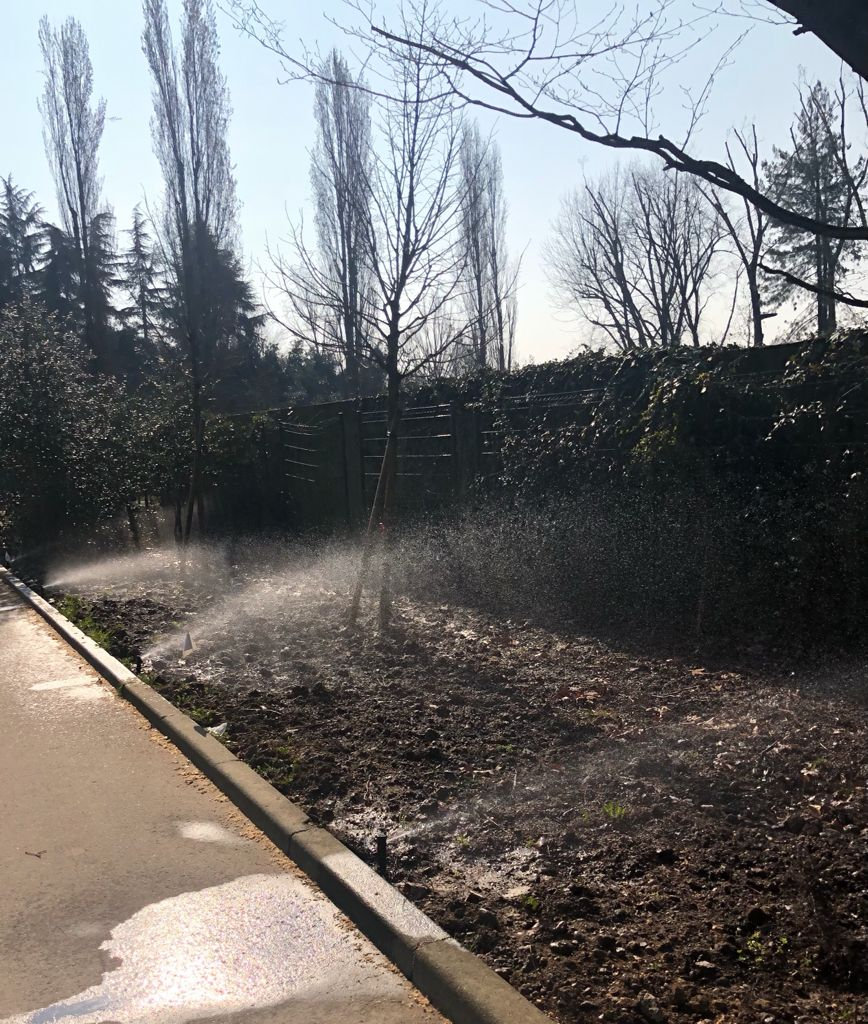 Basiglio impianto irrigazione acque reflue
