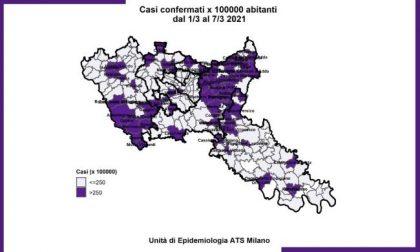 Monitoraggio Covid Ats Milano: aumentano i Comuni con numeri da zona rossa