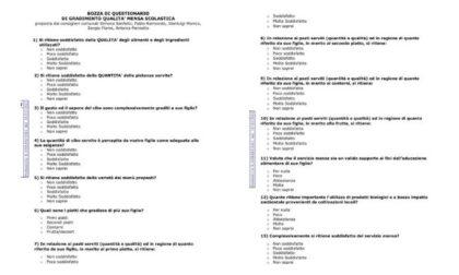 Mensa scolastica, FdI propone un questionario anonimo per testare il gradimento