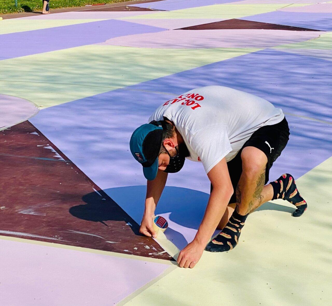 Street art campo basket Valleambrosia