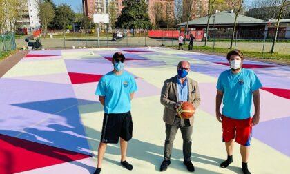 Street art, il campo da basket di Valleambrosia diventa un'opera d'arte