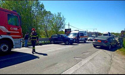 Incidente lungo la sp40: quattro feriti, atterra l'elisoccorso