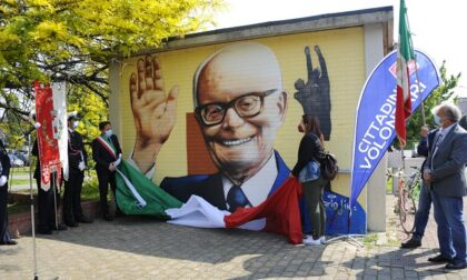 A Buccinasco il murale per il presidente partigiano Sandro Pertini