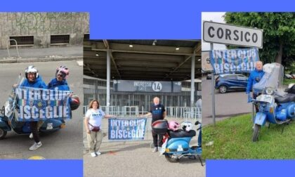 L'impresa: dalla Puglia a San Siro in Vespa per festeggiare lo scudetto dell'Inter