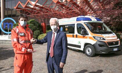 Alla Croce Amica Basiglio la prima ambulanza a Milano anti covid