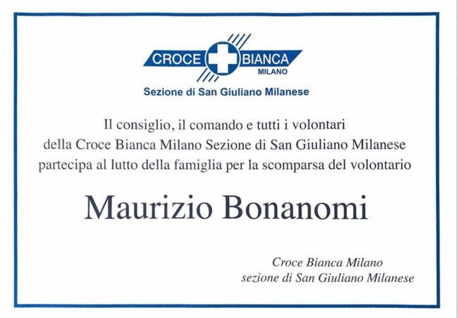 Addio Maurizio Bonanomi San Giuliano