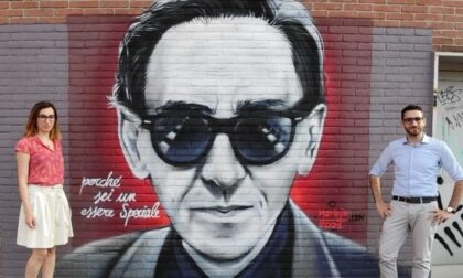 Il murale dedicato a Franco Battiato a Corsico: il regalo di Marinela alla città