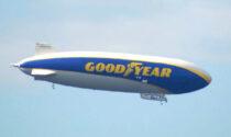 Il dirigibile Goodyear vola su Milano e hinterland