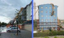 Gru crolla sul palazzo a Rozzano: aperta un'inchiesta per disastro colposo, 5 indagati